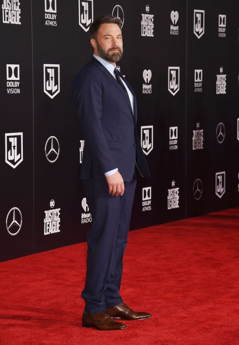 Ben Affleck arrives at the premiere of Warner Bros. Pictures' 'Justice League' at the Dolby Theatre