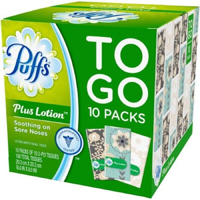 Puffs Plus Lotion To Go Packs