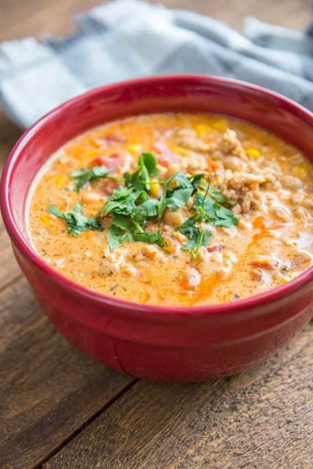 Slow cooker Buffalo chicken chili