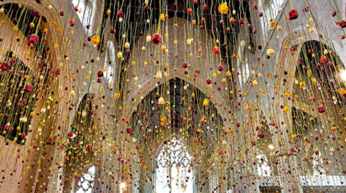 Stunning hanging floral display