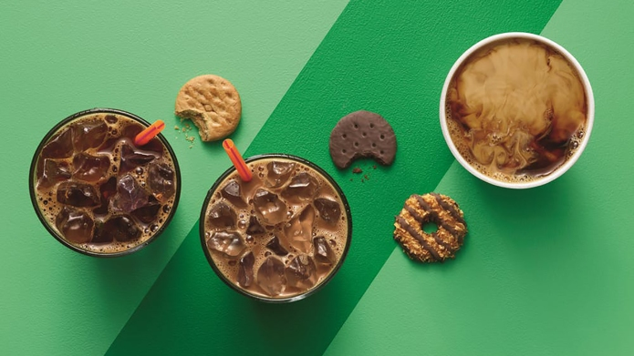 Dunkin' Donuts Girl Scout Cookie Drinks