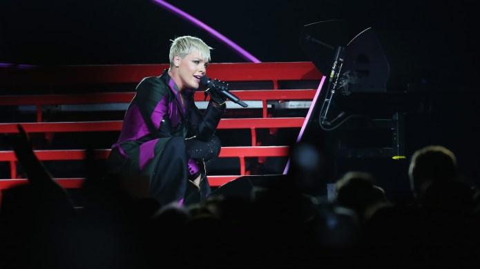 Pink performs at Qudos Bank Arena
