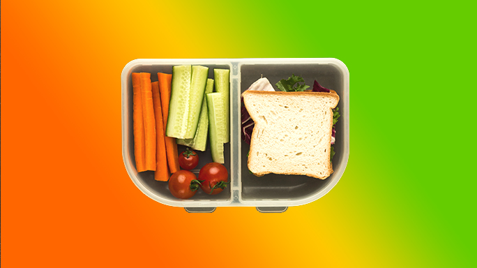Turkey Sandwich and Vegetables