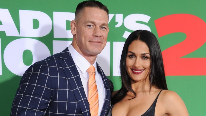 John Cena and Nikki Bella arrive