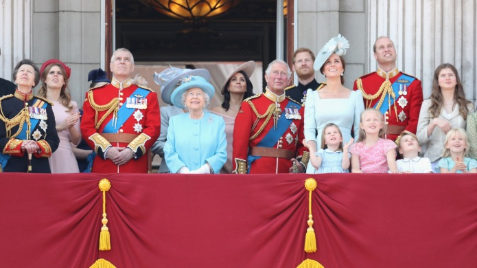 The British royal family watch the