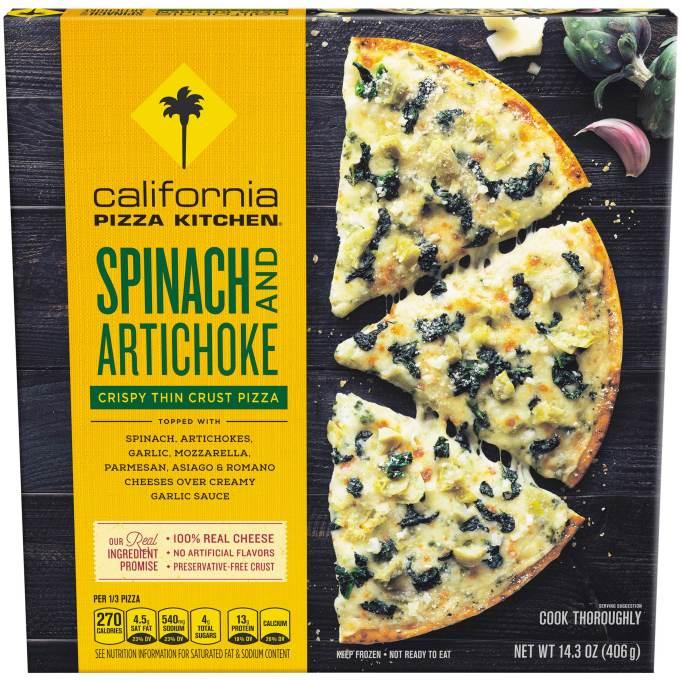 California Pizza Kitchen Spinach and Artichoke Crispy Thin Crust Pizza