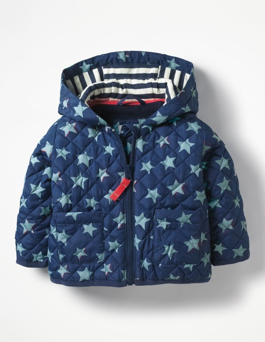Boden Starry Quilted Coat
