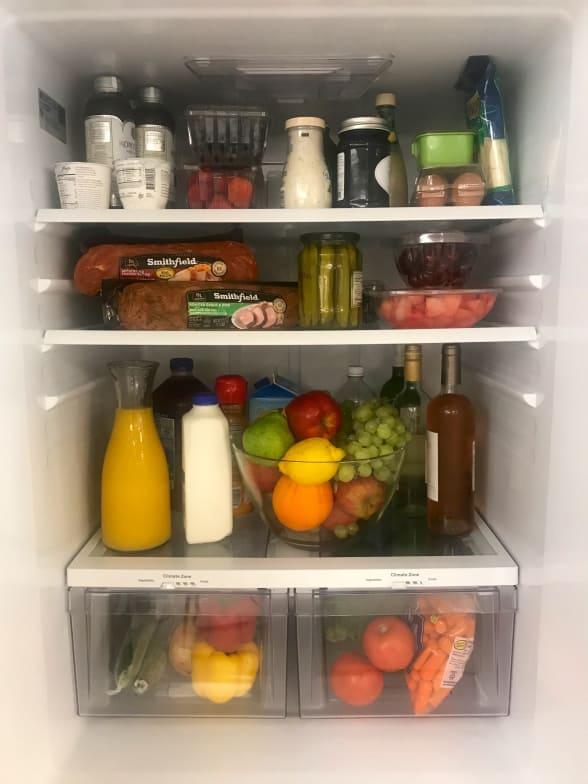 Haylie Duff's refrigerator