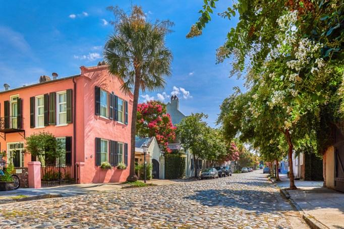 Cobblestone streets in Charleston, South Carolina