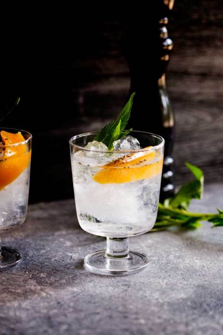 Mango and Black Pepper Gin and Tonic