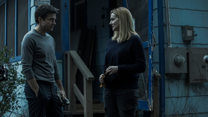 Still of Jason Bateman and Laura