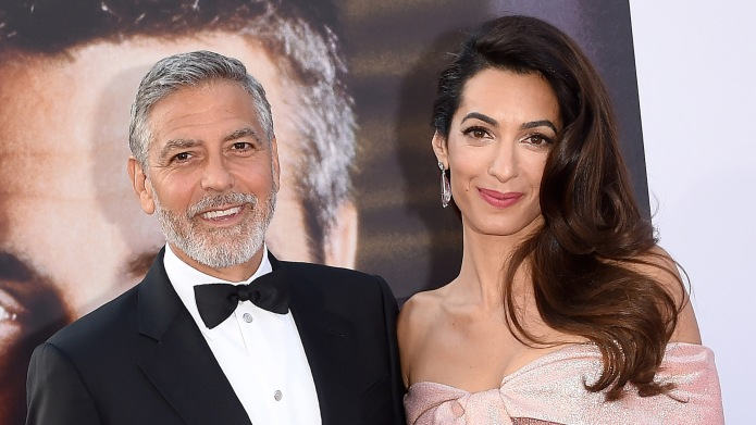 George and Amal Clooney at American