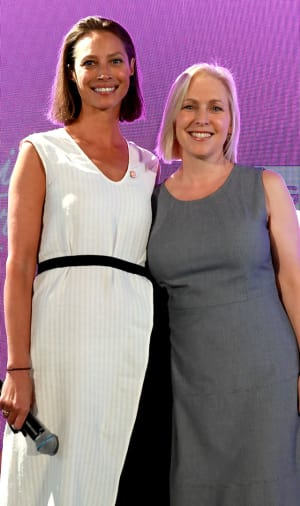 Christy Turlington Burns and Kirsten Gillibrand