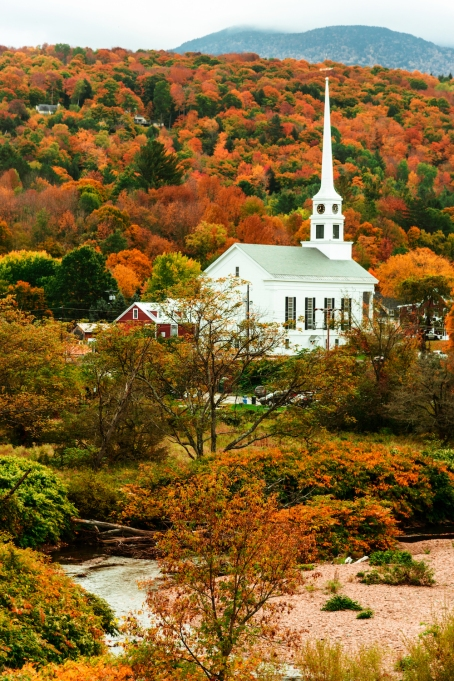 Stowe, Vermont in the fall