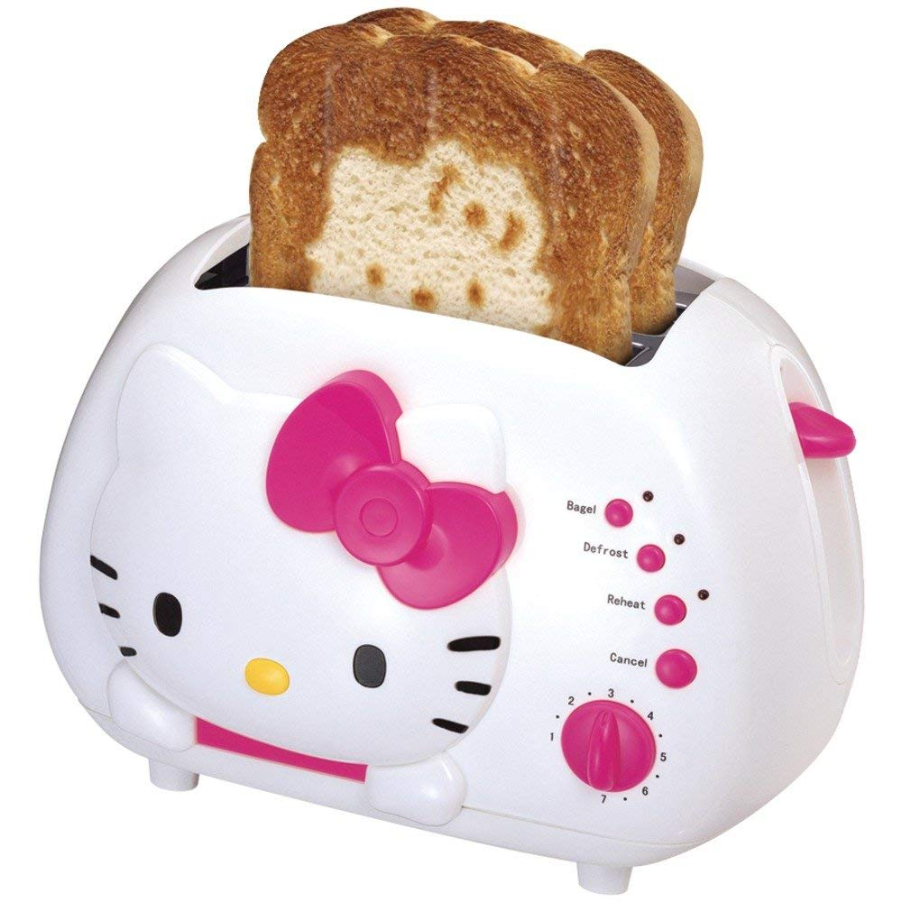 Hello Kitty 2-slice toaster with cool-touch exterior