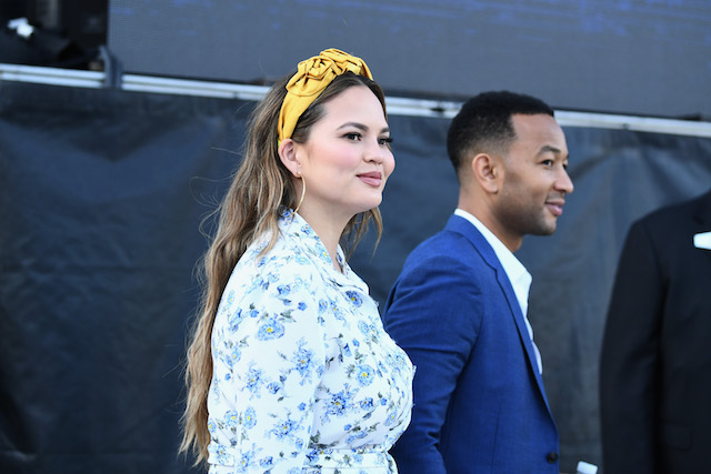 Chrissy Teigen attends the Fourth Annual Los Angeles Dodgers Foundation Blue Diamond Gala at Dodger Stadium