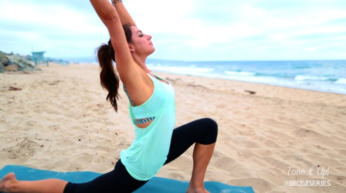 Beach Yoga with Karena by Tone It Up
