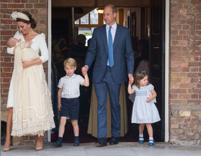 Kate Middleton, Duchess of Cambridge, and Prince William, Duke of Cambridge, with their children, Prince George, Princess Charlotte and Prince Louis