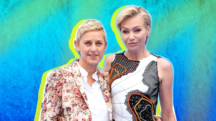 SheKnows treated collage of Ellen DeGeneres