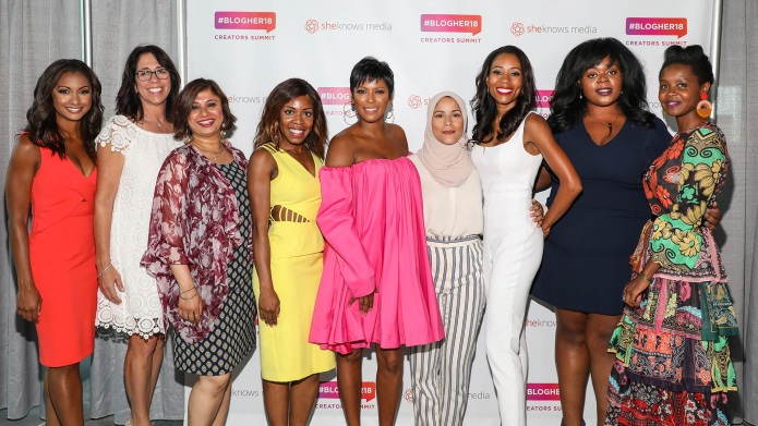 Tamron Hall with women activists at