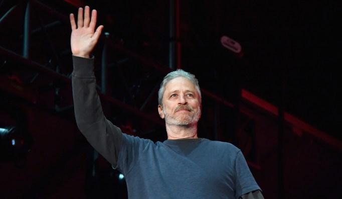 Jon Stewart performs at Clusterfest