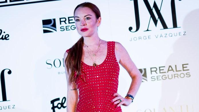 Lindsay Lohan attends the Jorge Vazquez