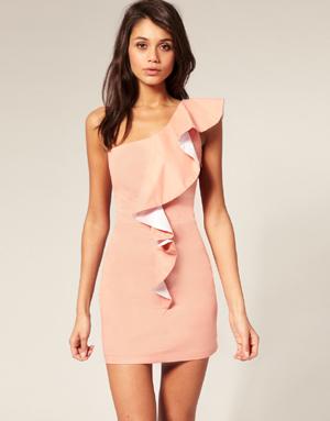 One-shoulder-ruffle-dress