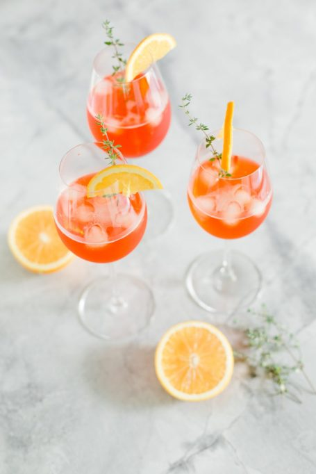 Thyme-Infused Aperol Spritz