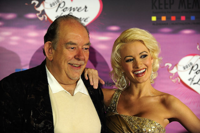 Robin Leech and Holly Madison arrive for the 14th annual Keep Memory Alive charity gala at the Bellagio Las Vegas