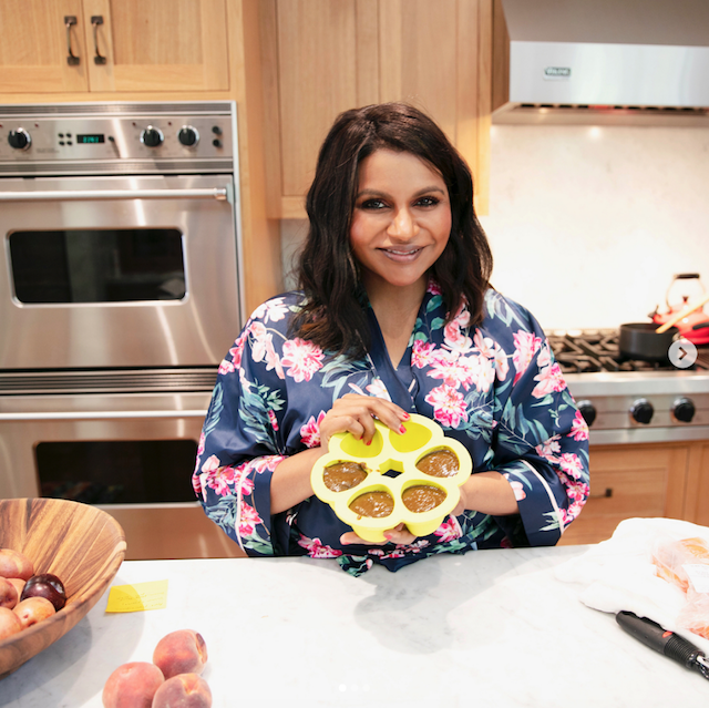 Mindy Kaling showing off homemade baby food on Instagram