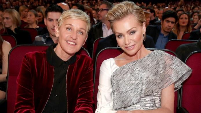 Ellen DeGeneres and actress Portia de
