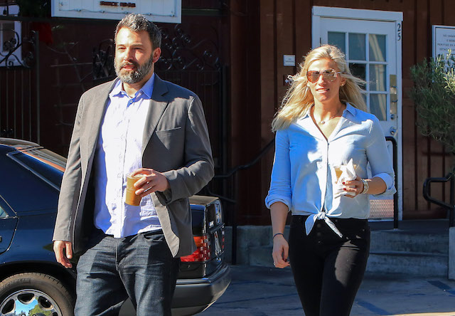 Ben Affleck and Lindsay Shookus are seen on November 25, 2017 in Los Angeles, California.
