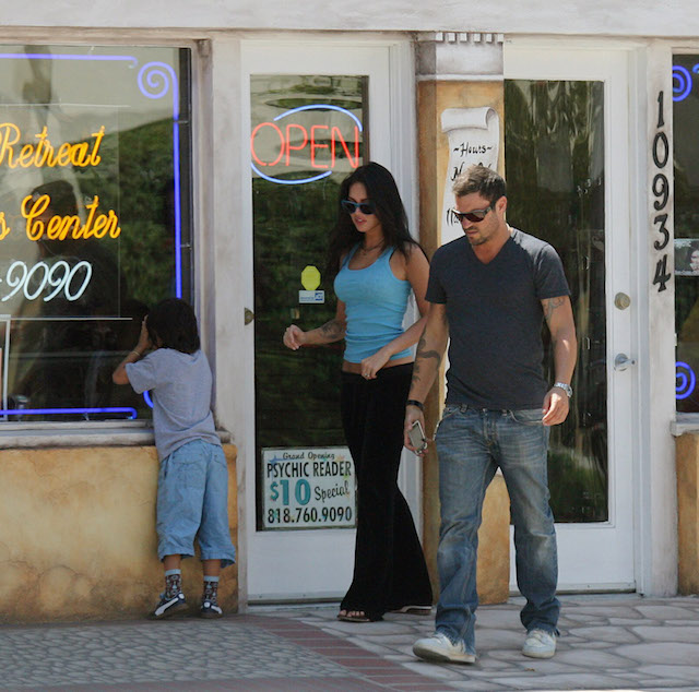 Brian Austin Green took Megan Fox and his son Kassius to lunch at Chin Chin Restaurant