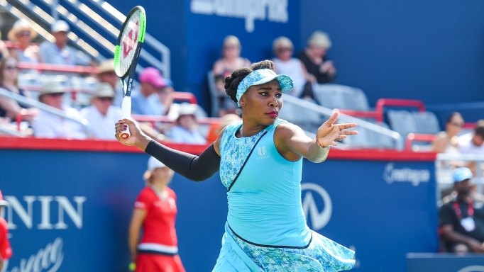 Venus Williams competes in 2018 Coupe Rogers