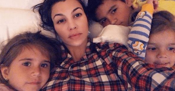 Kourtney Kardashian and her three children, Mason, Penelope and Reign