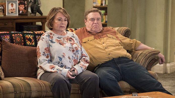 Still of Roseanne Barr and John