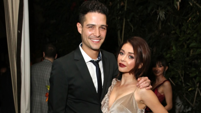 Wells Adams and Sarah Hyland attend