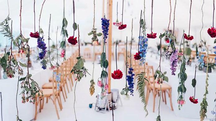 Wedding Trend Alert: Suspended Flowers for