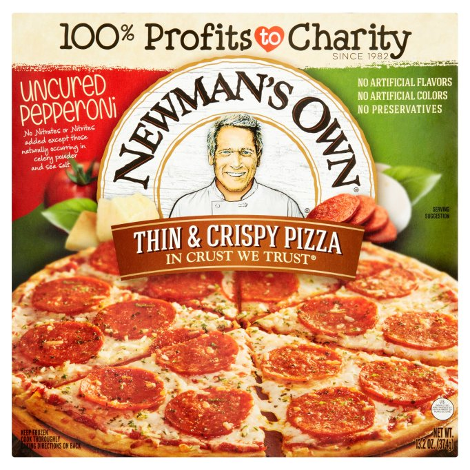 Newman's Own All Natural Thin & Crispy Uncured Pepperoni Pizza