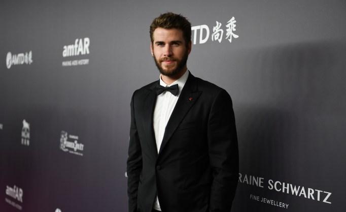 Liam Hemsworth attends amfAR Hong Kong 2018