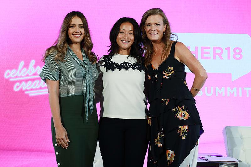 Jessica Alba, Denise Woodard and Samantha Skey