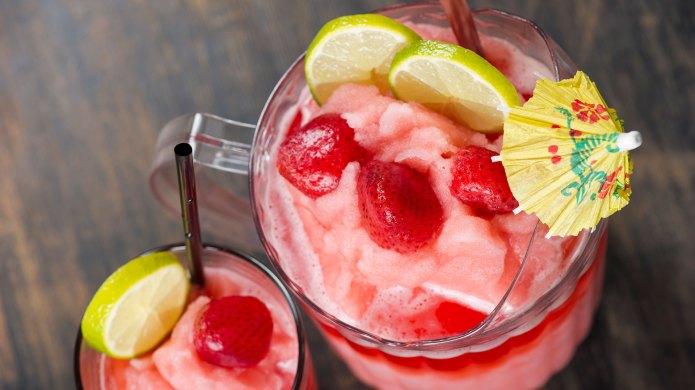 Strawberry margarita pitcher