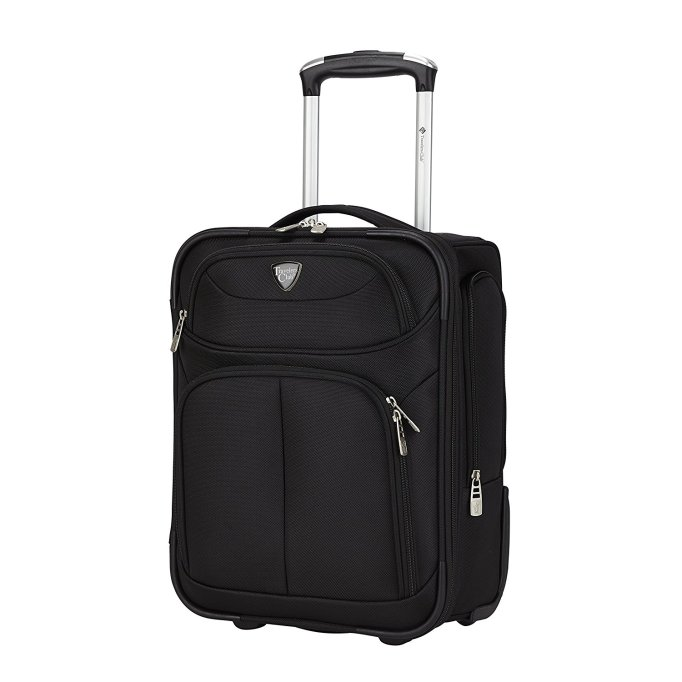 "Travelers Club 17"" Hartford Collection rolling suitcase"