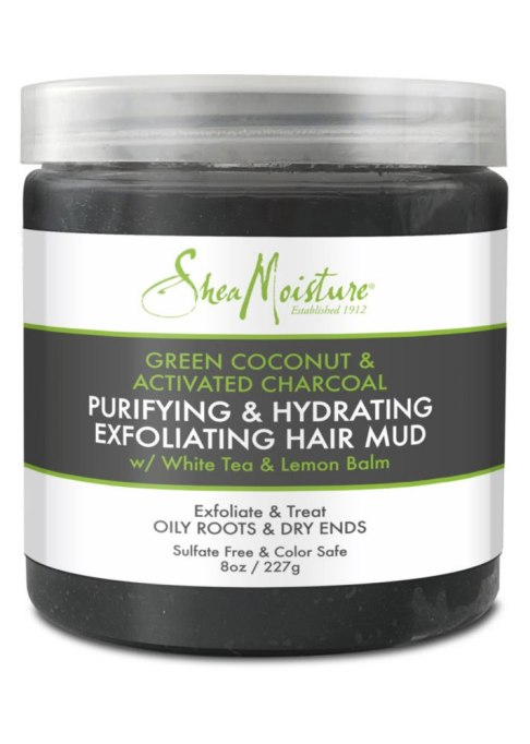 Shea Moisture Green Coconut & Activated Charcoal Purifying & Hydrating Exfoliating Mud