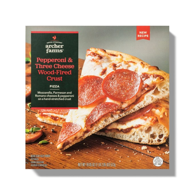 Archer Farms Pepperoni & Three Cheese Frozen Wood-Fired Crust Pizza