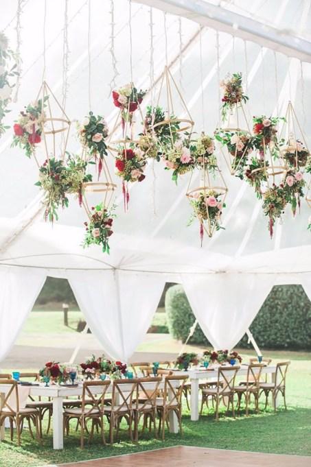 Audrina Patridge's suspended flowers