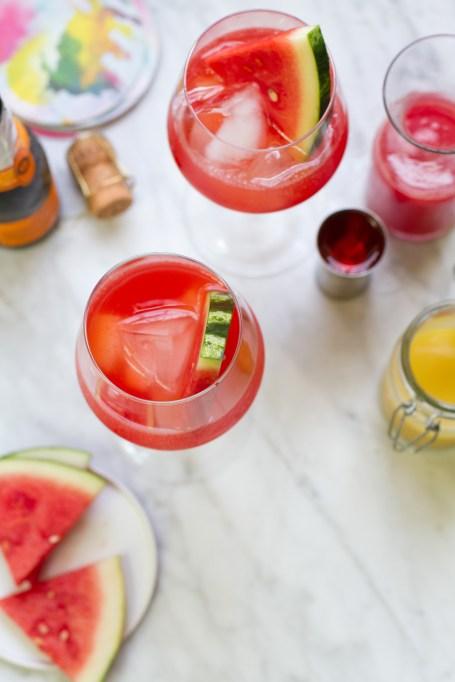 Watermelon Ginger Aperol Spritz