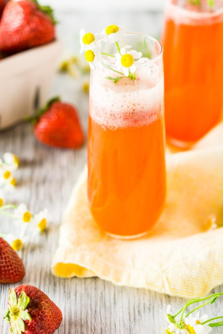 Roasted Strawberry Aperol Spritz
