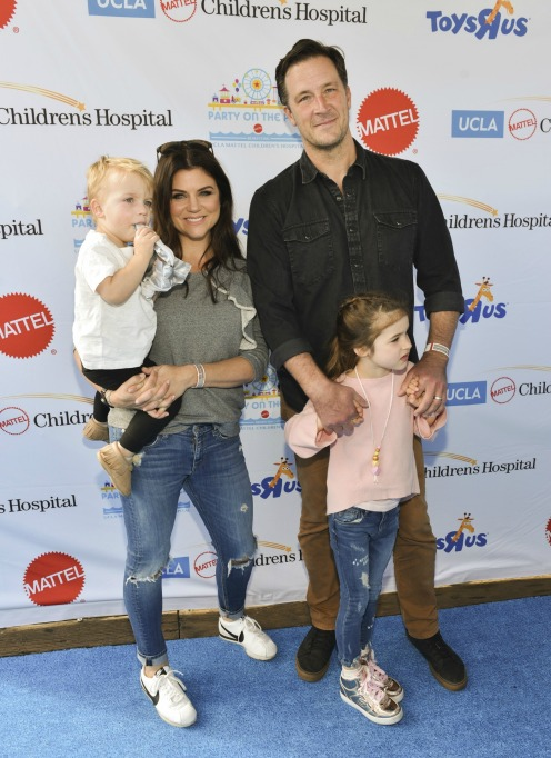 Photo of Tiffani Thiessen and family