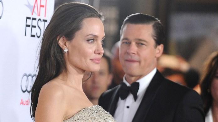 Angelina Jolie and Brad Pitt attend